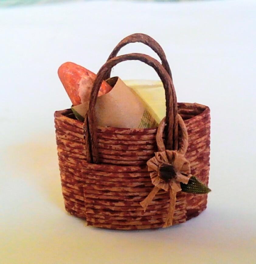 画像1: お買い物籠バッグ