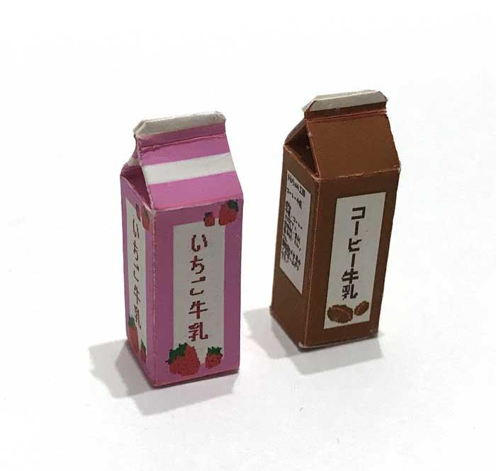 画像1: いちご牛乳・コーヒー牛乳パックセット