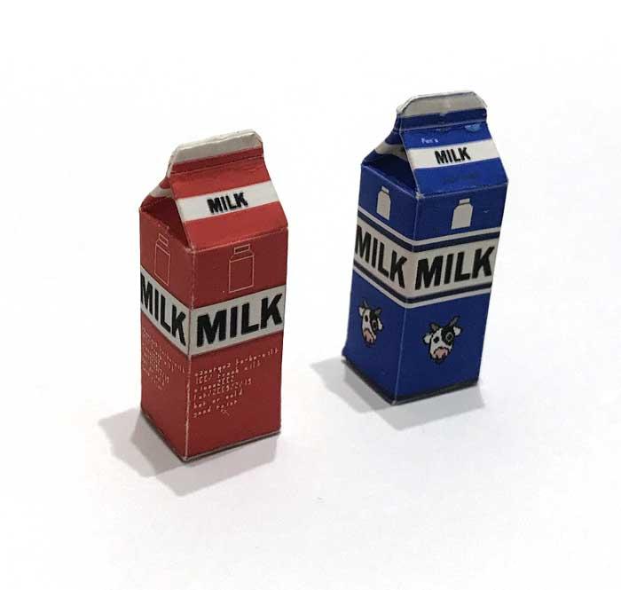 画像1: 赤箱・青箱牛乳パックセット