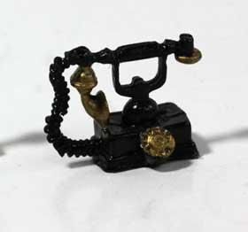 画像1: アンティーク電話・黒