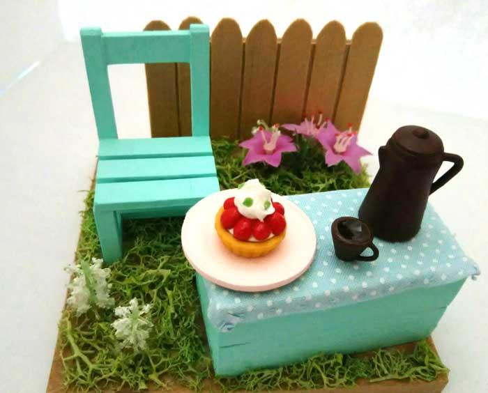 画像1: 春の庭でティータイム(特価)