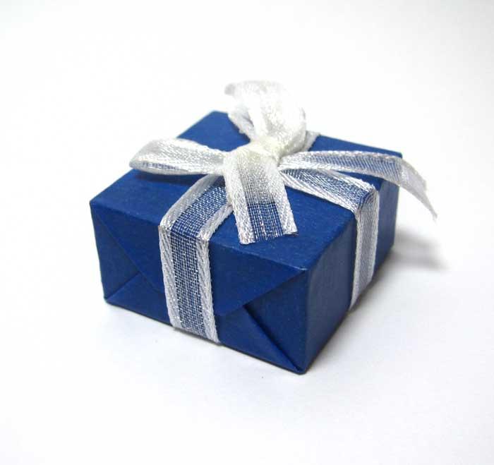 画像1: プレゼントボックス(ブルー)