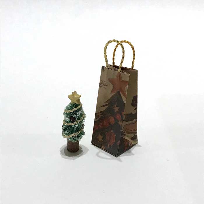 画像1: ミニチュアツリーと紙袋のセット