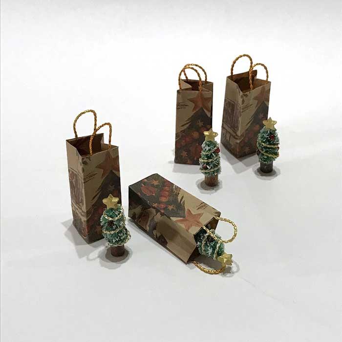画像2: ミニチュアツリーと紙袋のセット
