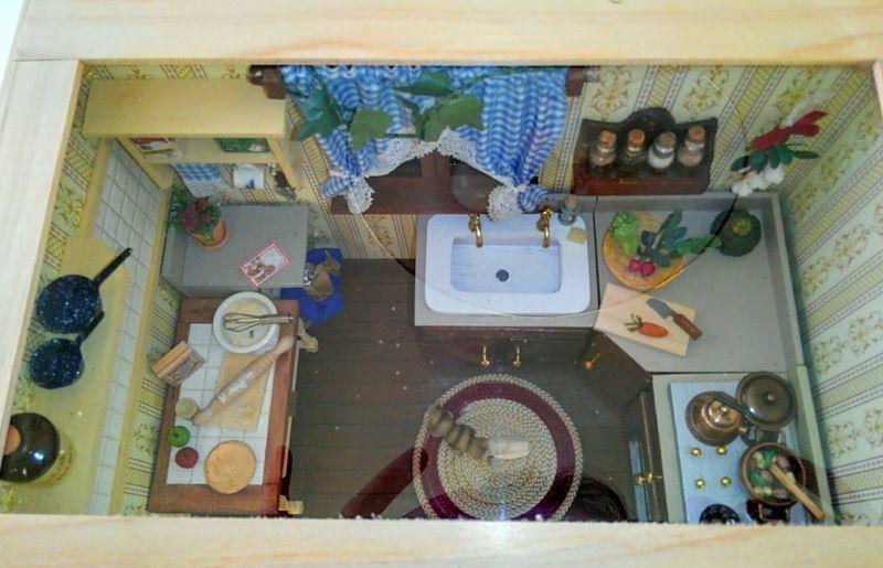 画像5: ミニチュアフレーム〜大忙しのキッチン・クリスマスバージョン