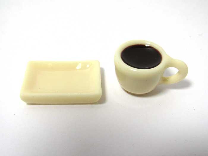 画像2: カップ入りコーヒーとトレイセット