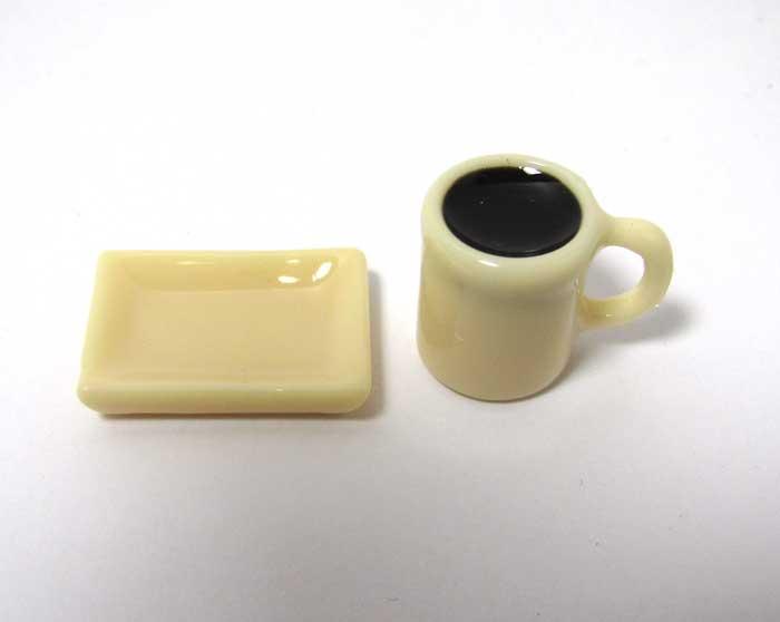 画像2: マグカップ入りコーヒーとトレイセット