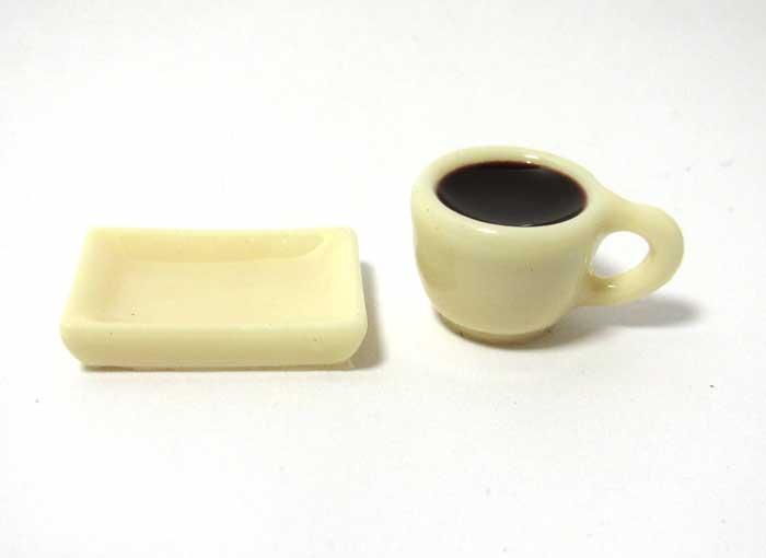 画像1: カップ入りコーヒーとトレイセット