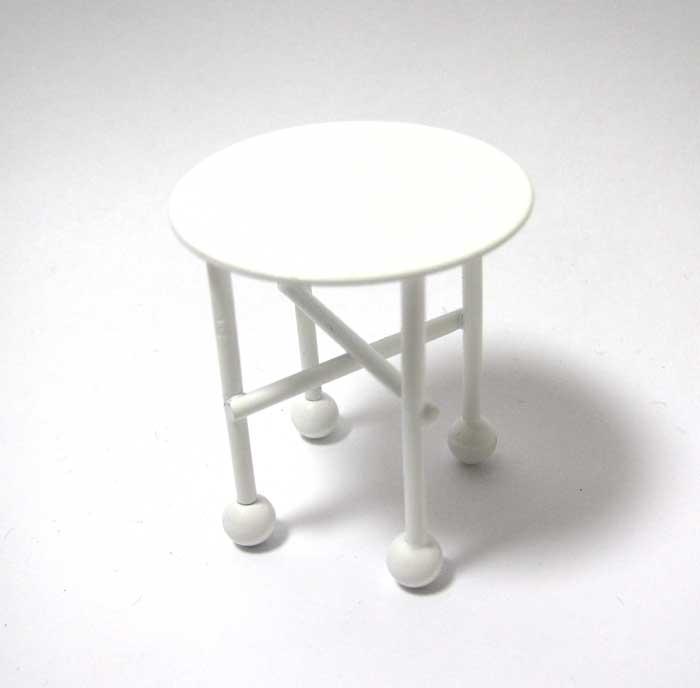 画像1: 白いミニテーブル
