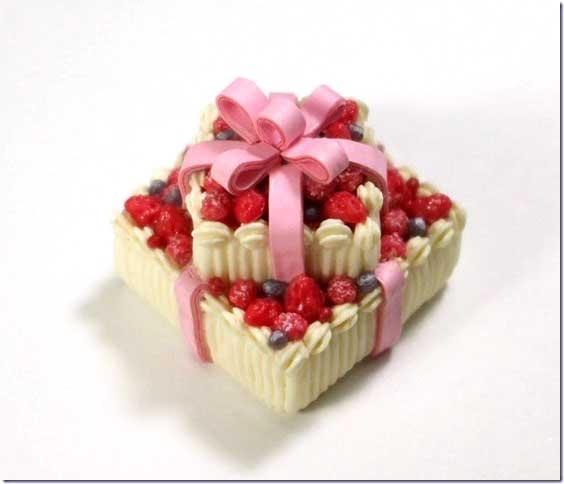 画像1: プレゼントケーキ2段