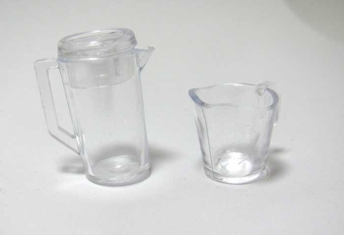 画像1: ピッチャーとカップセット・クリア