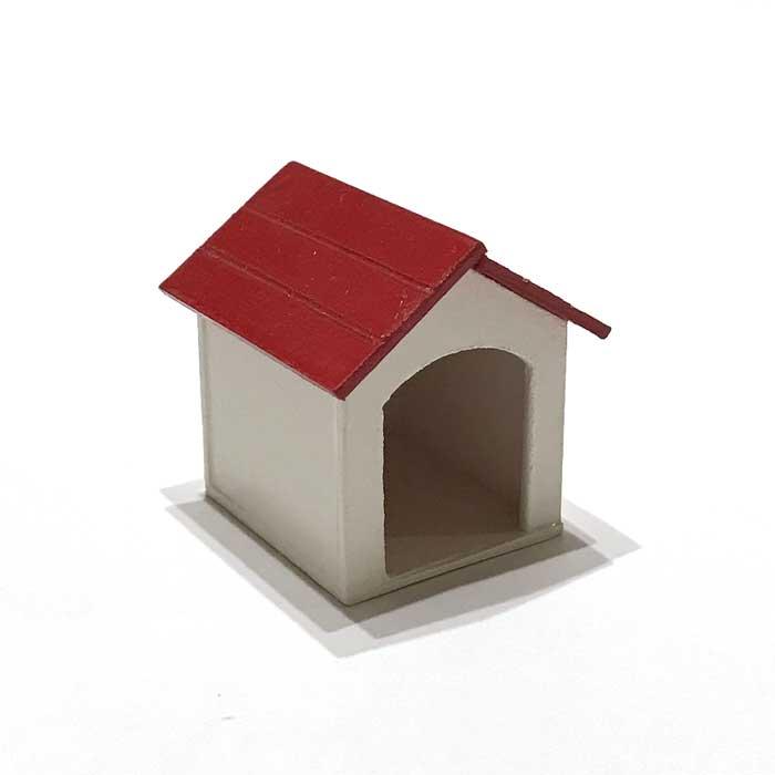 画像1: 赤い屋根の犬小屋
