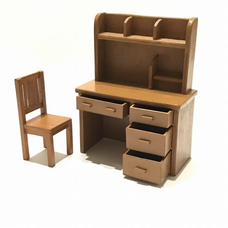 画像1: ミニチュア学習机・椅子付