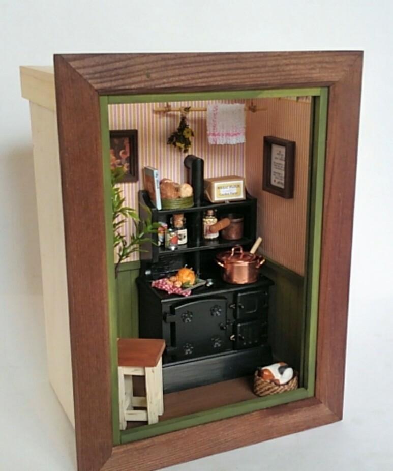 画像1: ミニチュアフレーム 〜 キッチンストーブのある私の大好きな場所 〜