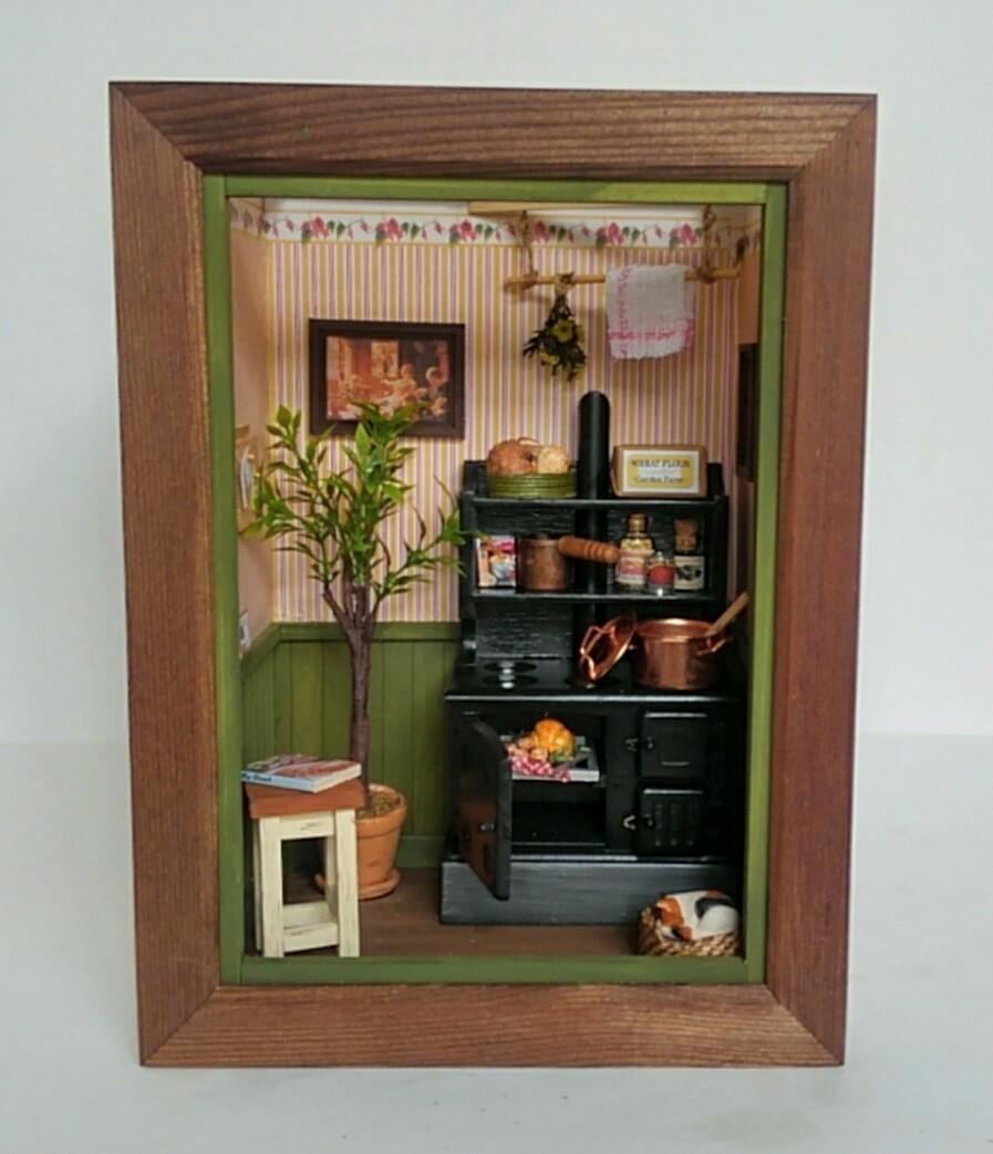 画像2: ミニチュアフレーム 〜 キッチンストーブのある私の大好きな場所 〜