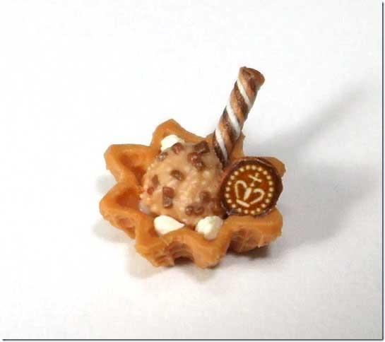 画像1: ワッフルカップアイス(チョコ)