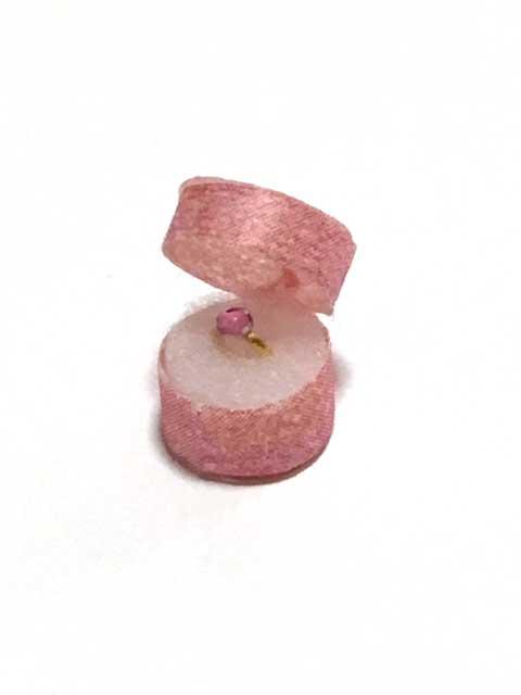画像1: ピンクの石の指輪