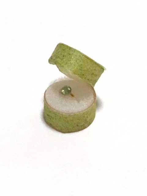 画像1: 緑の石の指輪