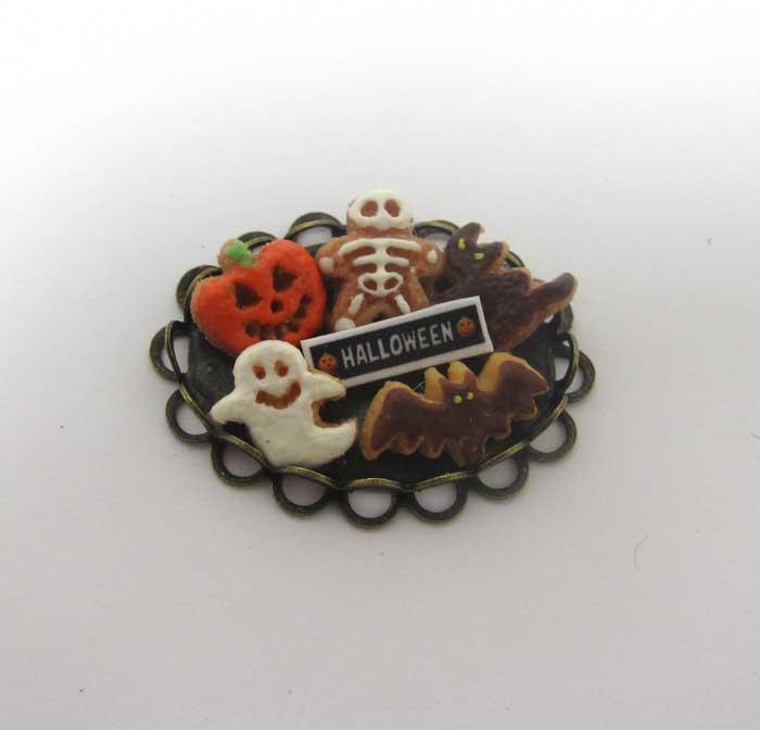 画像2: ハロウインクッキーお皿入り