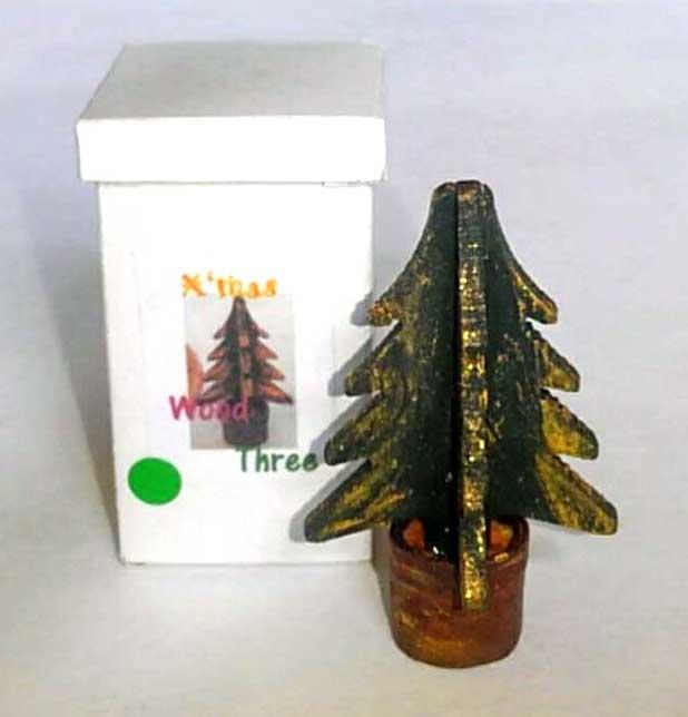画像1: ウッドツリー(グリーン)収納箱付き