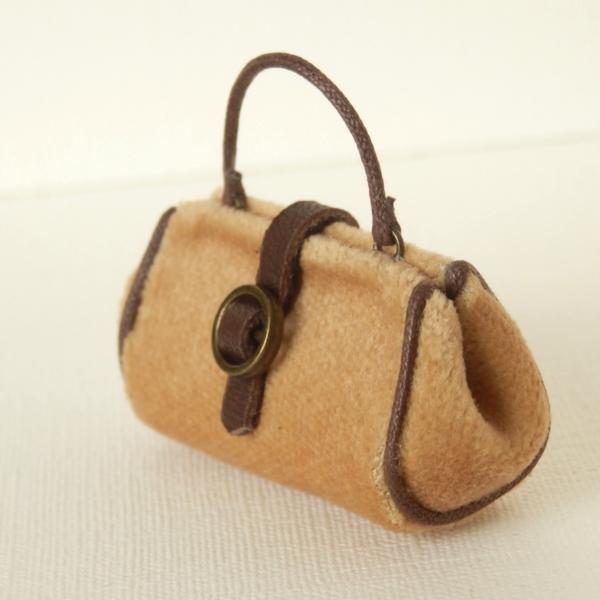 画像1: ハンドバッグ キャメル