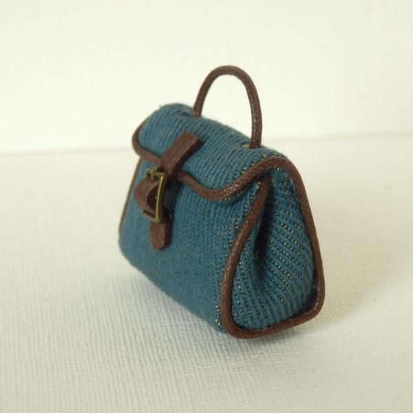 画像1: ハンドバッグ・ブルー