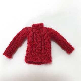画像1: 赤いセーター