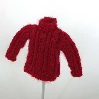 画像2: 赤いセーター