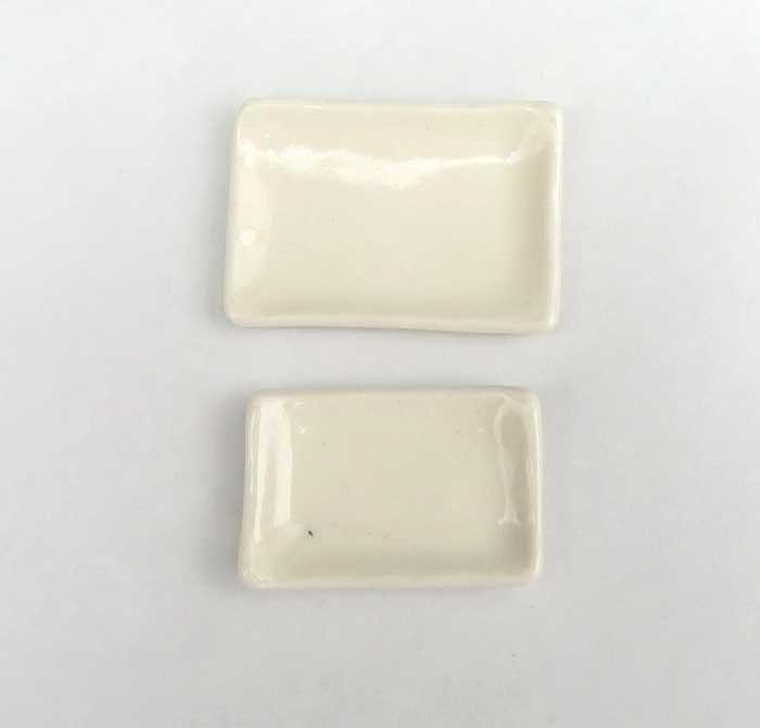 画像1: 白角皿・1枚