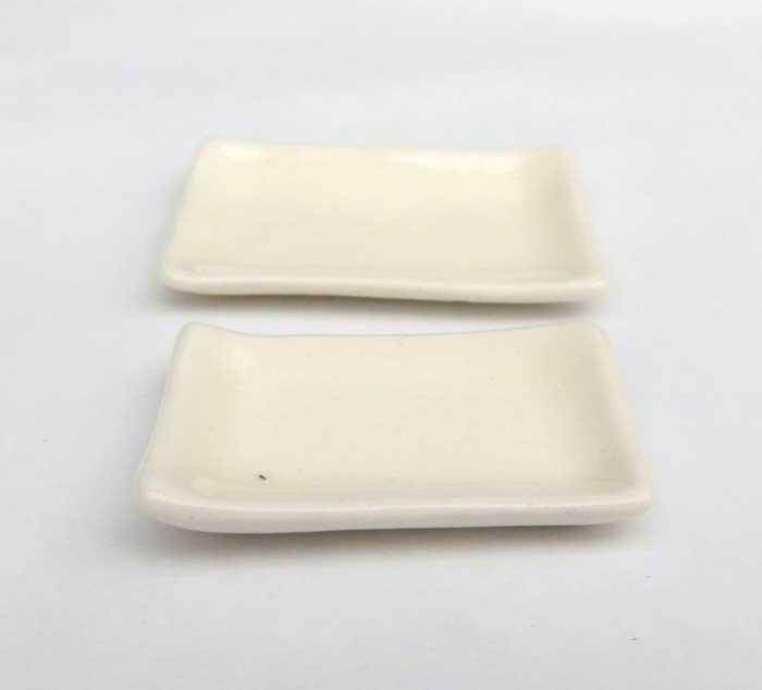 画像2: 白角皿・1枚