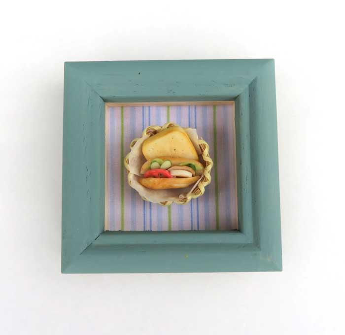 画像1: ミニ額・食パン