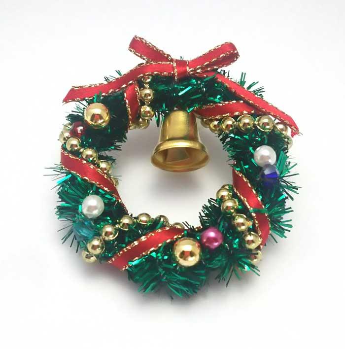 画像1: クリスマスリース(グリーン)