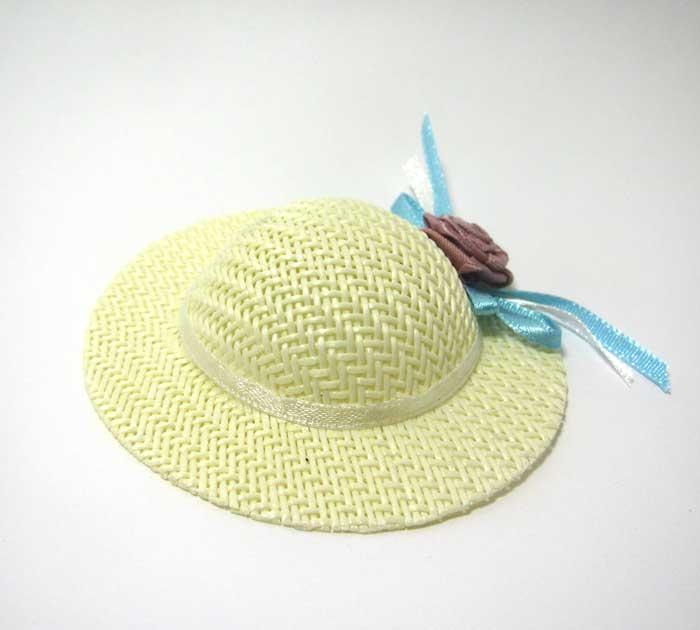 画像2: ブルーバラ付き麦わら帽子・特大