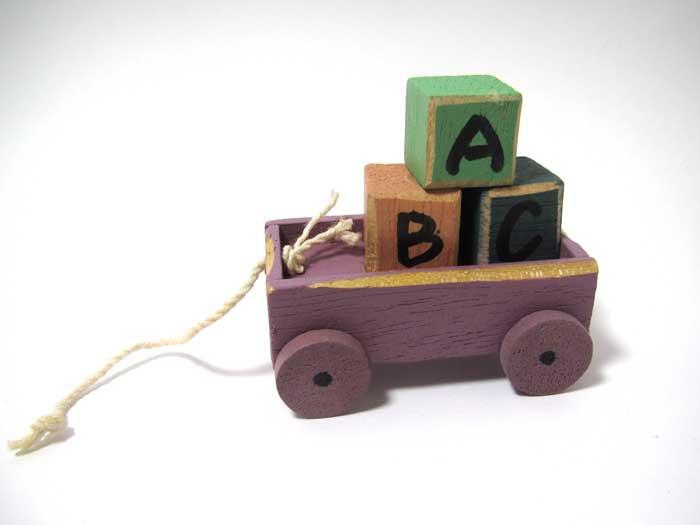 画像1: 積み木のカートABC