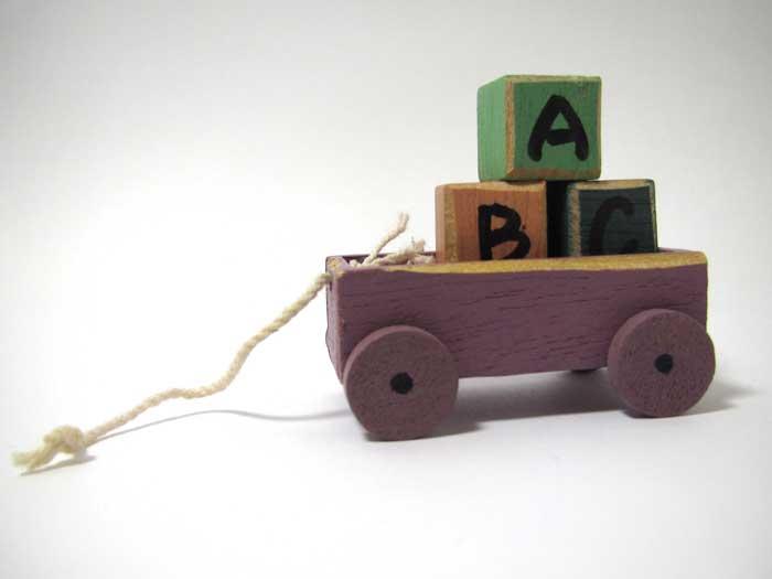 画像2: 積み木のカートABC