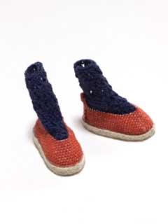 画像4: かぎ針編みのくつ下・紺