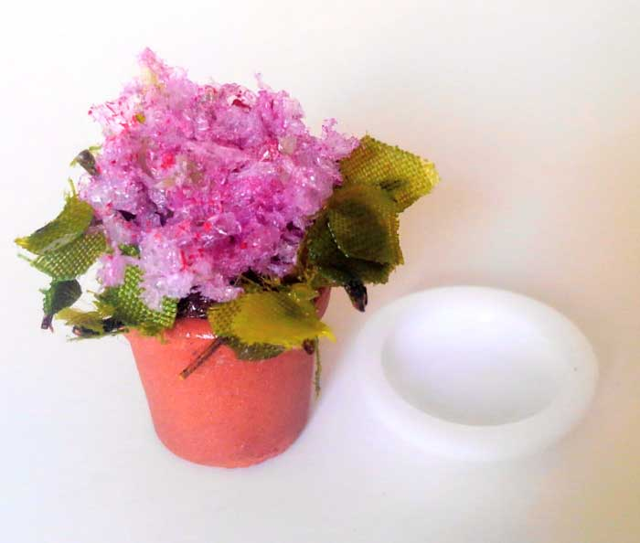 画像2: 鉢植えの花(ピンク)