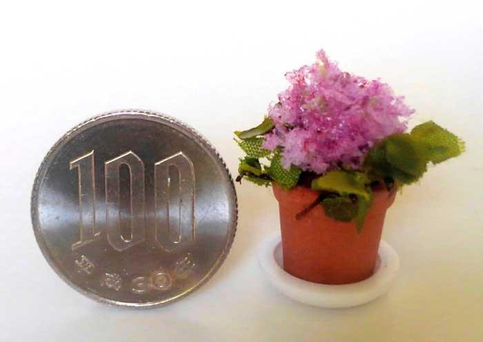 画像3: 鉢植えの花(ピンク)