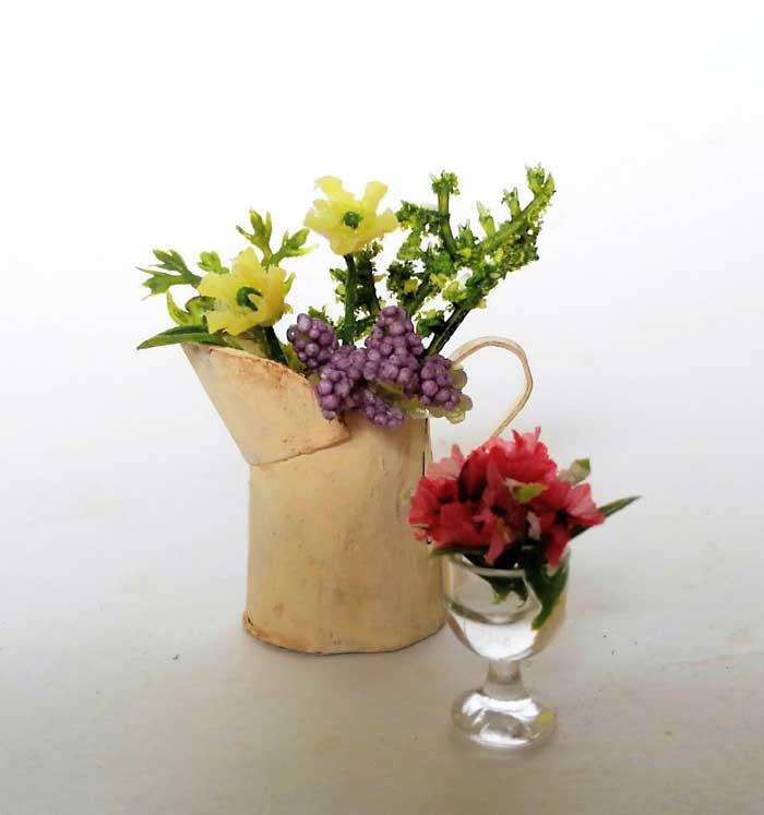 画像1: フラワー・センターピース&ジャグのお花(白)