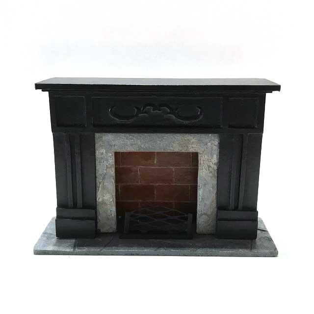 画像1: ミニチュア暖炉