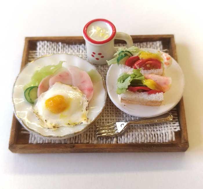 画像1: モーニングセット(サンドイッチ&サラダ&ポタージュ)