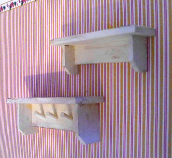画像2: リビングの棚2個セット・オフホワイト