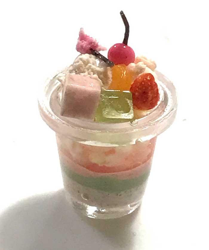 画像1: 桜グラスパフェ