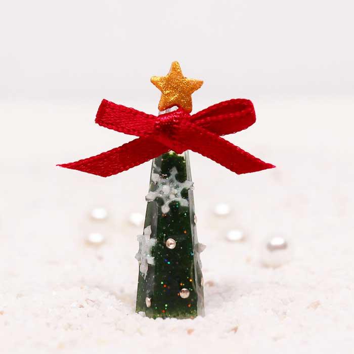 画像1: ミニミニクリスマスツリーもみの木風