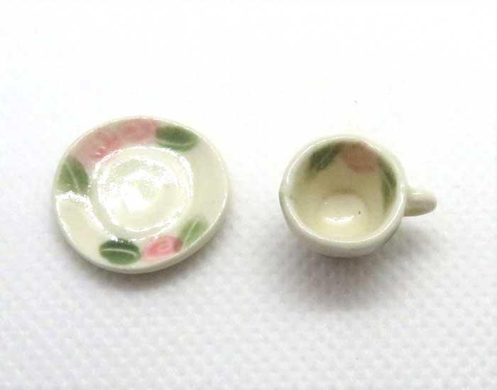 画像2: コーヒーカップ&ソーサー・薔薇