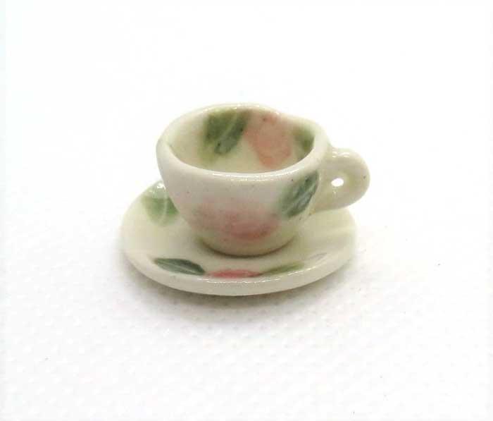 画像1: コーヒーカップ&ソーサー・薔薇