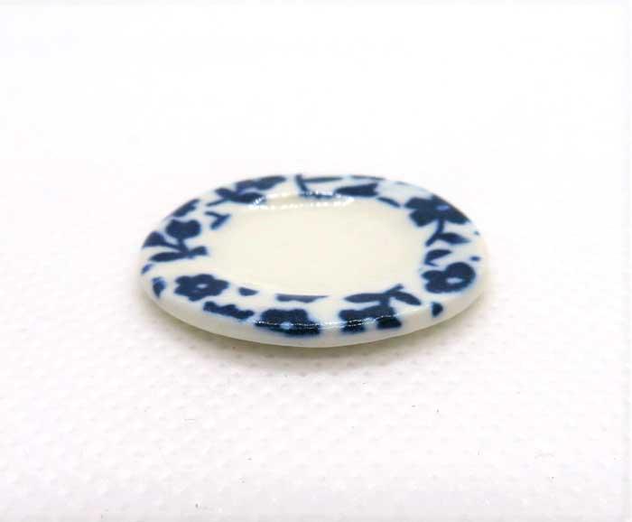 画像2: ケーキ皿・青花
