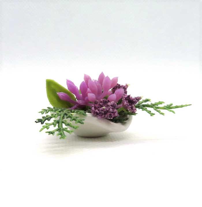 画像1: テーブルフラワー・赤紫