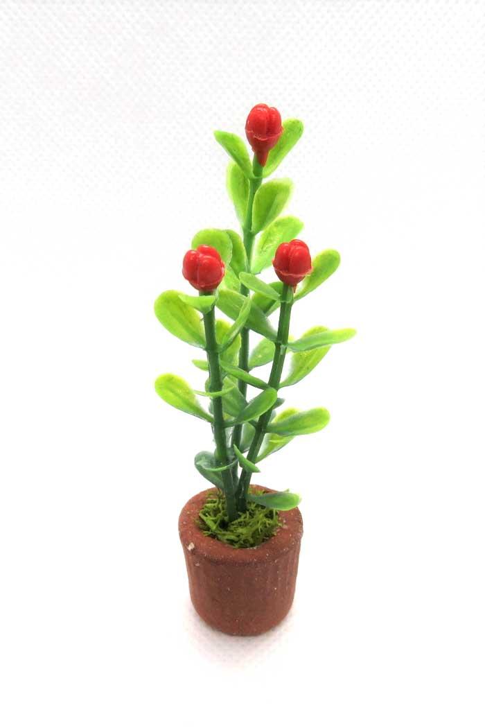 画像2: 赤い花鉢