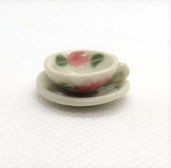 画像1: ティーカップ&ソーサー・薔薇